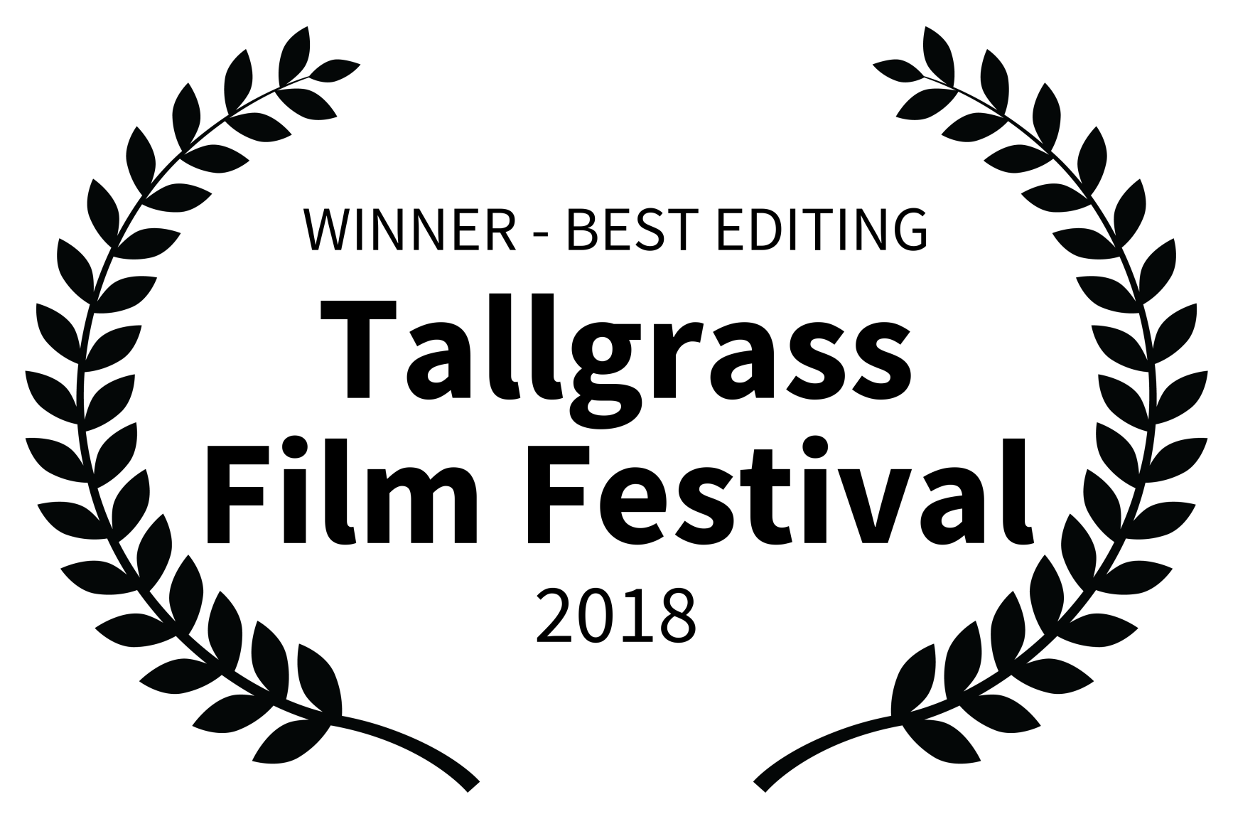 WINNER - BEST EDITING - Tallgrass Film Festival - 2018.png
