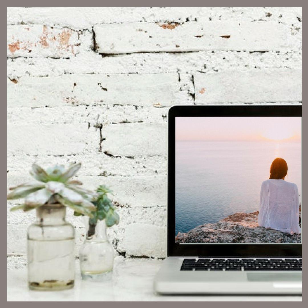 Brick wall flowers and laptop.jpg