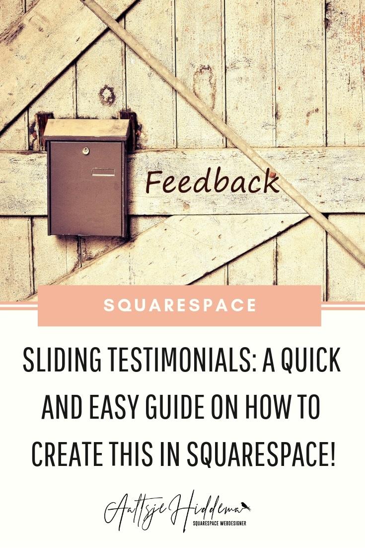 Sliding testimonials