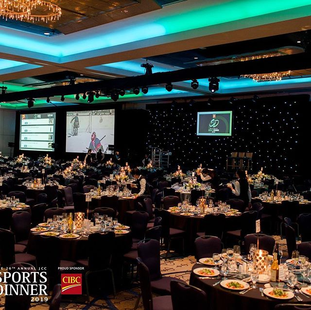 Shout out to In Any Event Design for yer another fantastic production of #jccsportsdinner ! We were particularly tickled with the gorgeous lighting in the room. You guys are a class act!!