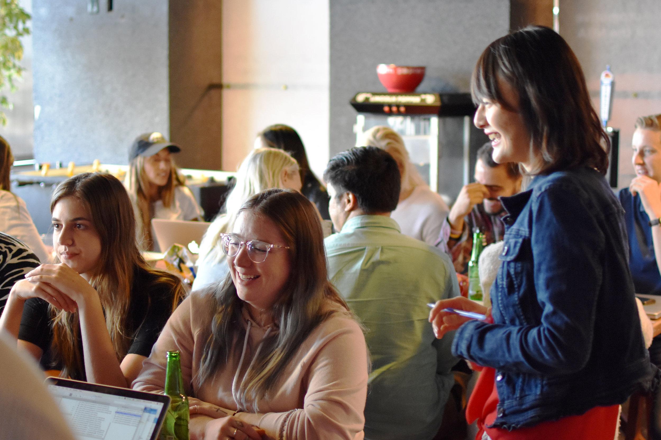 004 - Lynn chatting up a Team (2).jpg