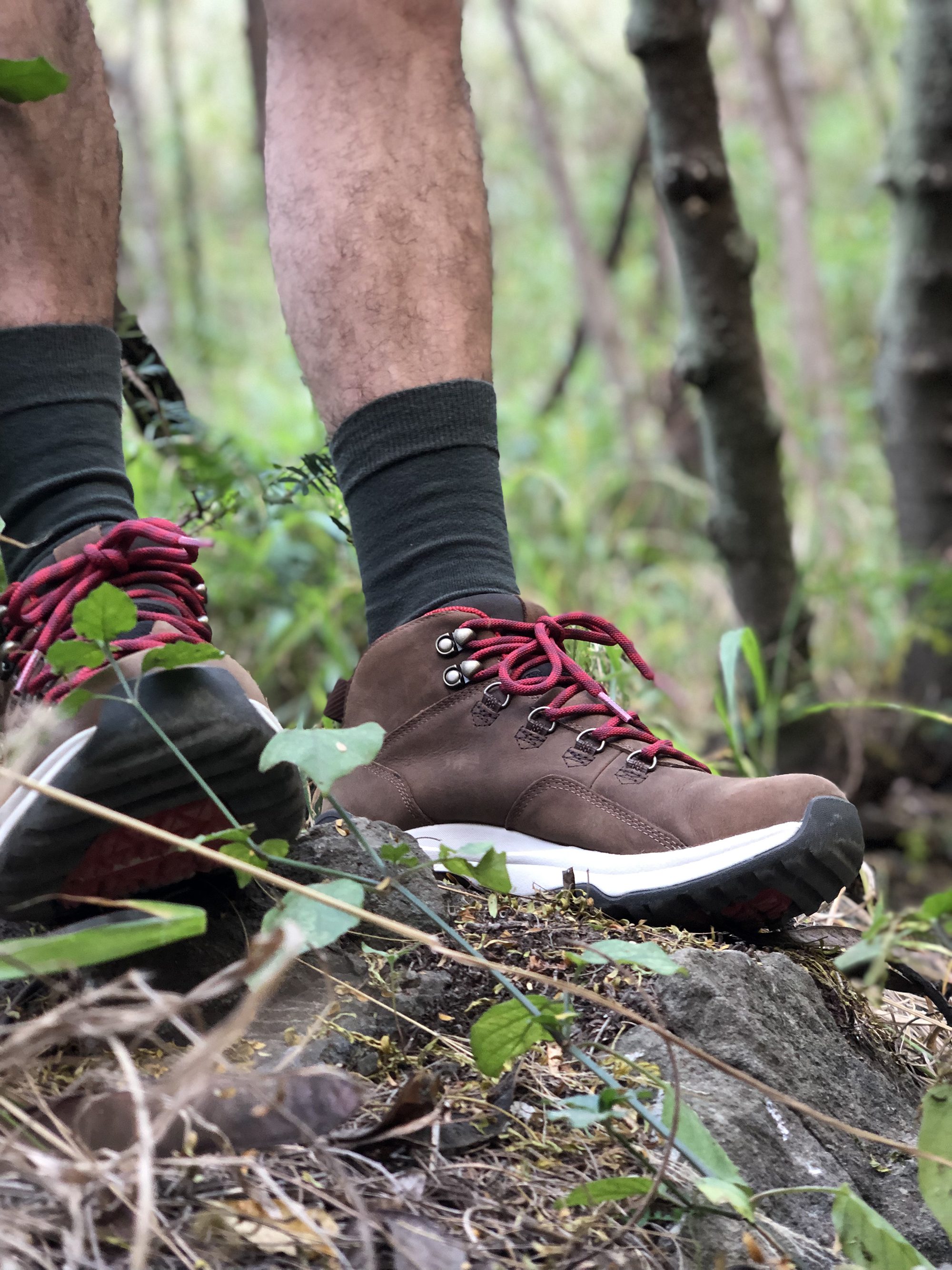 These boots were made for hiking - I always pack a pair of Teva hiking boots anytime I'm traveling to a place with hiking trails. They're waterproof and the traction on them is great. I feel confident hiking in them.
