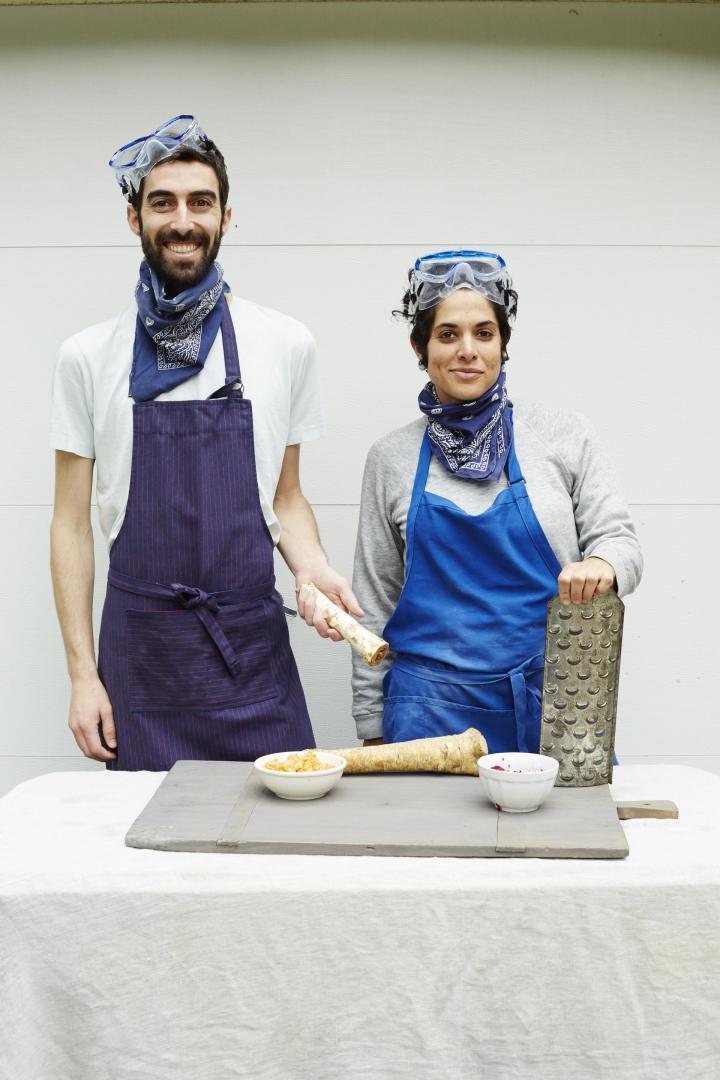 Liz Alpern and Jeffrey Yoskowitz of the Gefilteria