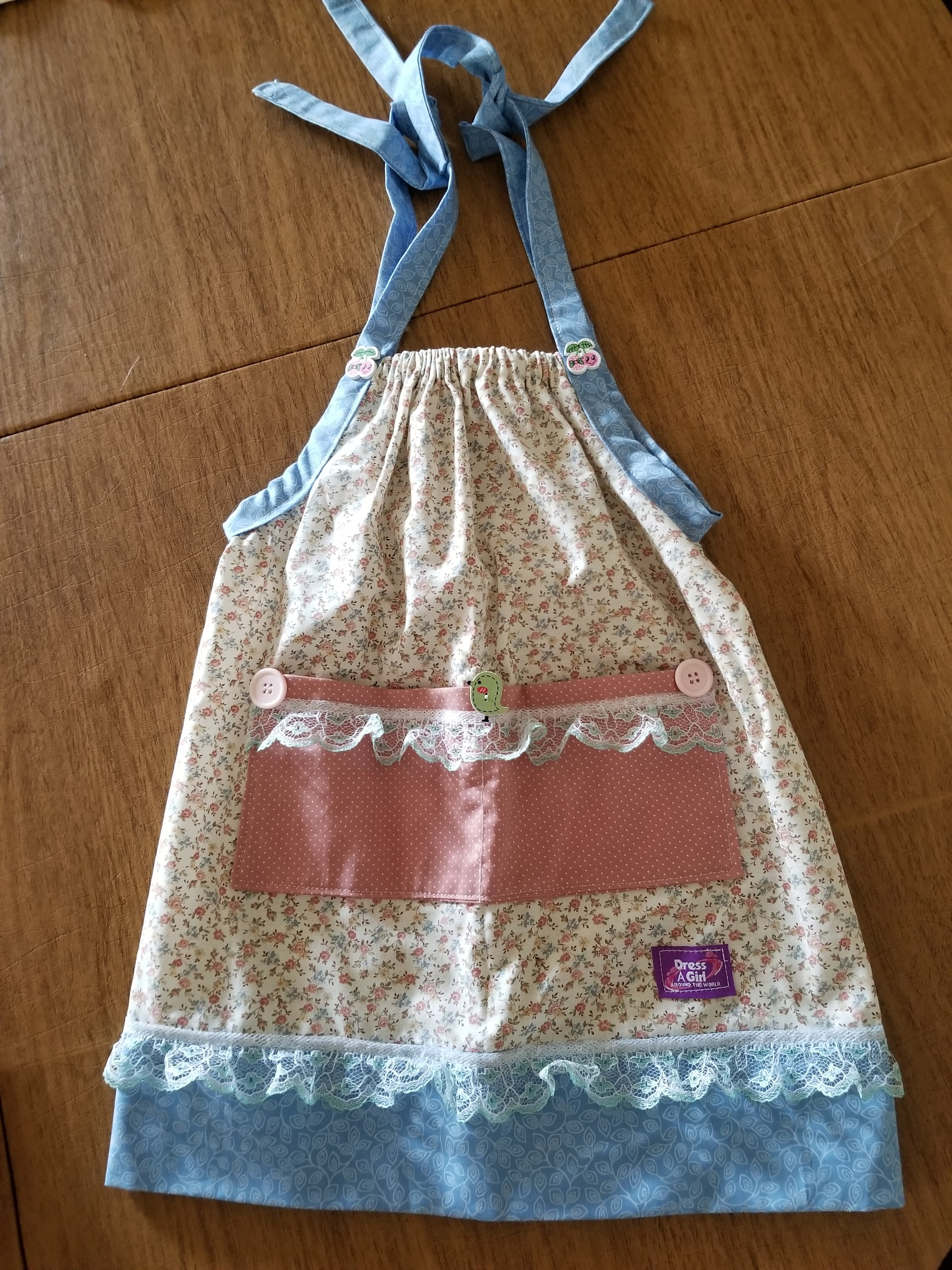 One adorable dress sewn at our sew days.