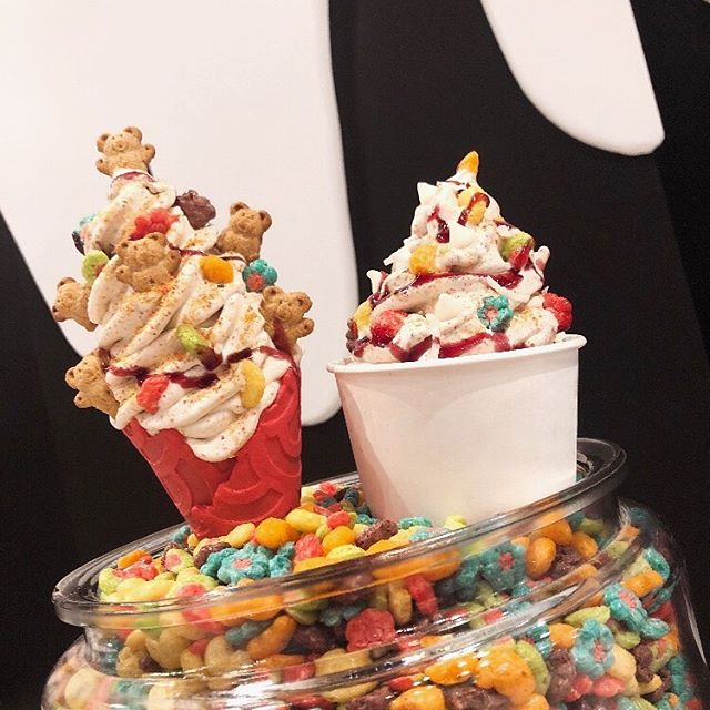 "WHO SAYS TRIX ARE ONLY FOR KIDS! If You Love TRIX Comment ""❤️"" And Tag A Friend. We Will Be Picking A Lucky Winner Which Will Be Randomly Selected For A Free Ice Cream (CUP / CONE / MILKSHAKE) • • Ice Cream In Photo: CONE : Trix Infused Ice Cream Topped With Trix Cereal, Teddy Grahams,  And Raspberry Drizzle!! CUP: Trix Infused Ice Cream (VEGAN) Topped With Trix Cereal, White Chocolate Chips, Toasted Coconut Flakes, And Raspberry Drizzle!! • • If You Haven't Made Your Way Down And Tried Our Cereal Infused Ice Creams (15 FLAVORS) And All The Other Delicious Cookies You're Missing Out! • • #MilkNCookies #CookieMafia #IceCreamMafia #IceCream #LuckyCharms #Westchester #Mamaroneck #WestchetserFoodies #Dessert #NewYork #SweetTooth #FeastAGram"
