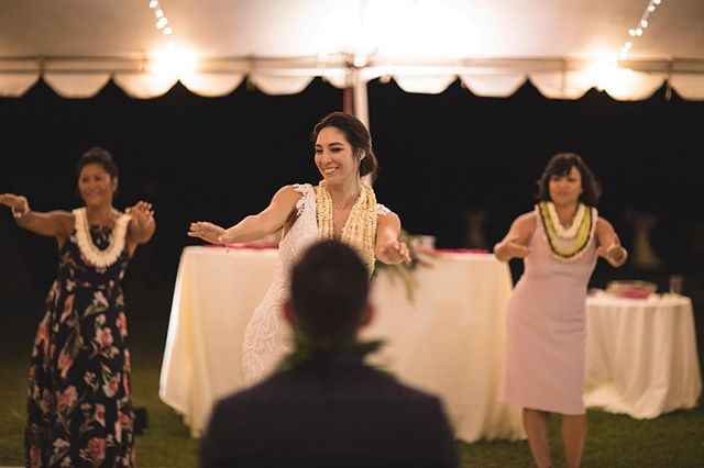 Our bride and her family surprised the groom with a beautiful hula— it was by far one of our favorite moments from the night! If you're considering any surprise elements during the reception for your love, be sure that it isn't a surprise to your vendors!  Keeping the vendors in the loop of any surprises throughout the evening will ensure that it goes off without a hitch (and that these moments are captured perfectly)!