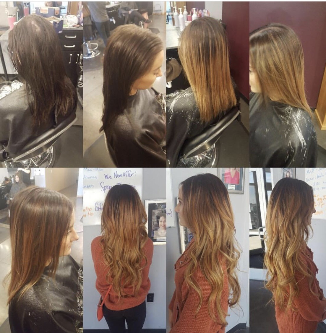 Hair Extensions - Pricing upon consultation for actual cost of the hair depending upon color and length.Installation of Extensions……………………………….$250+