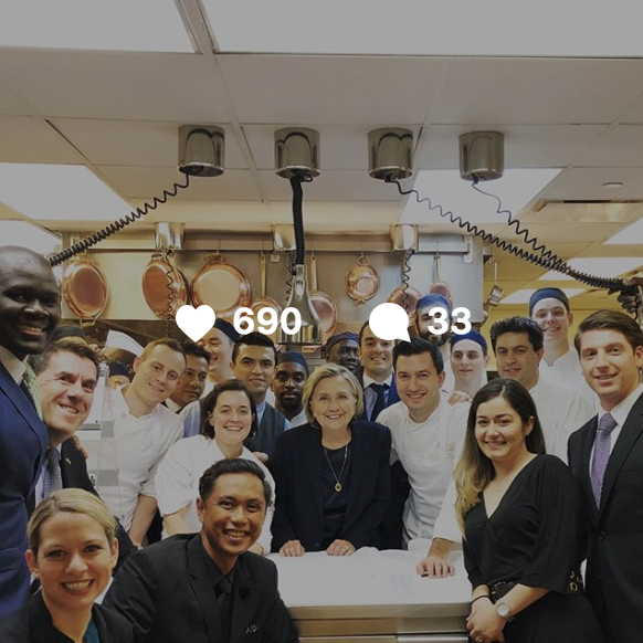 Sometimes we cook for people who change the world @cafebouludny @hillaryclinton