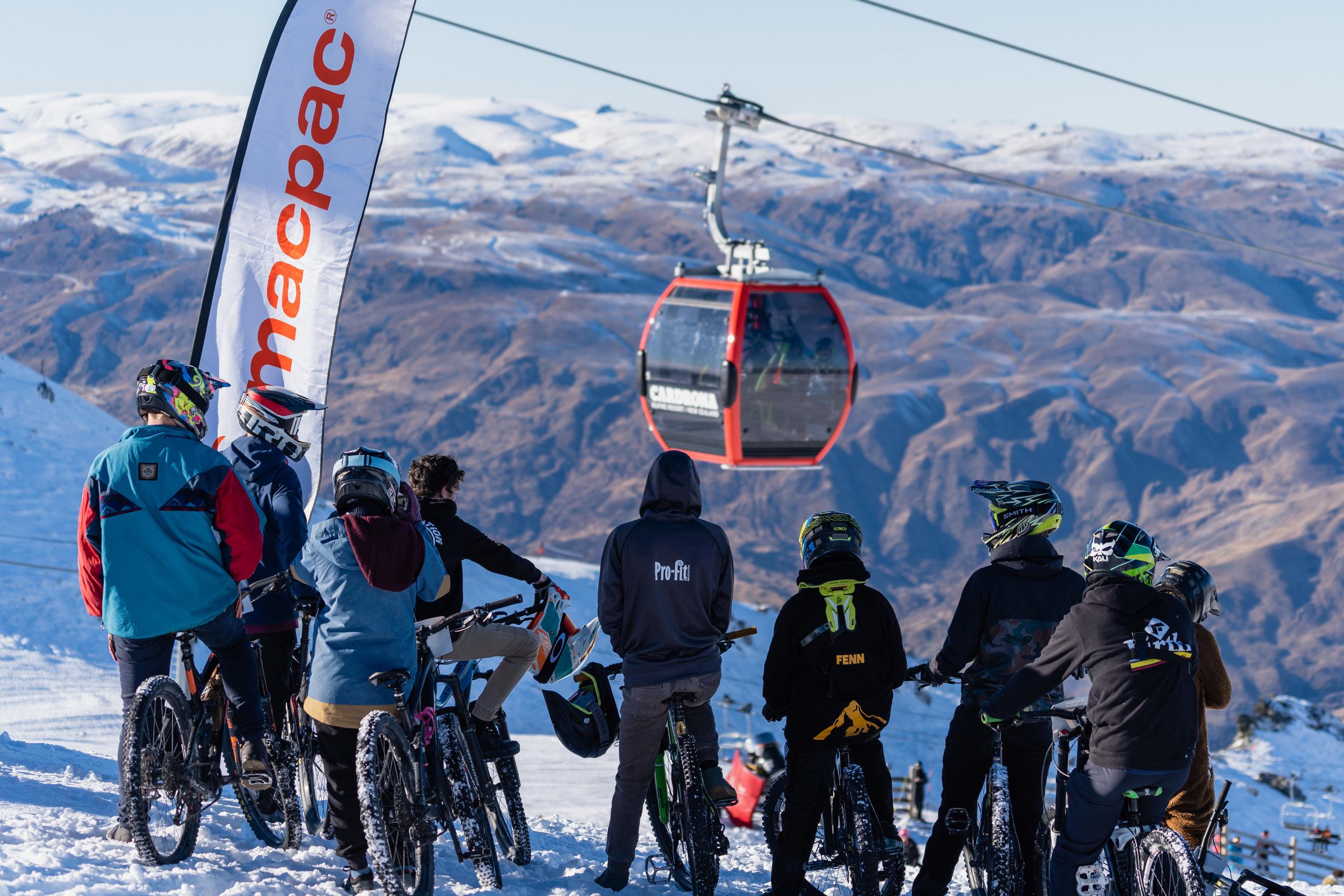 MACPAC MOUNTAIN BIKES ON SNOW