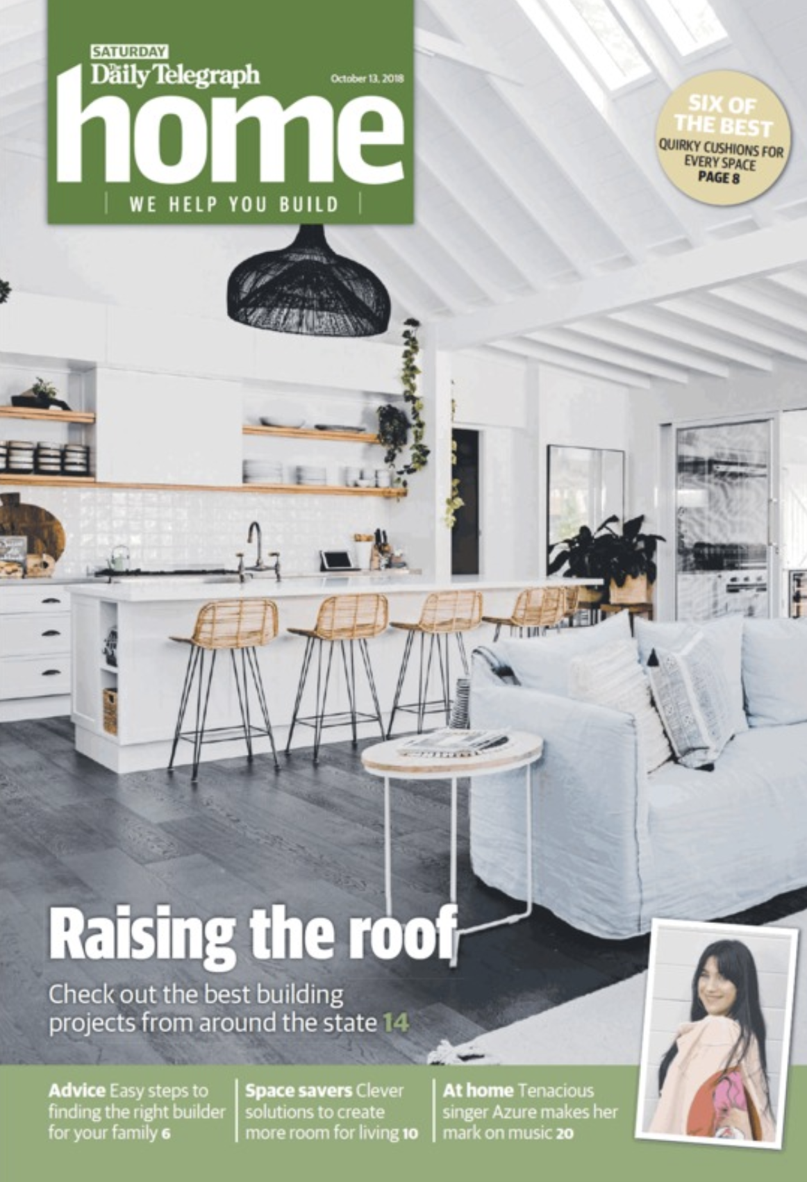 """The Daily Telegraph - """"BAM Constructions transformed one of the oldest farmhouses in Gerringong and transformed it into a luxurious guesthouse without losing its charm.""""Click here to read the full article"""