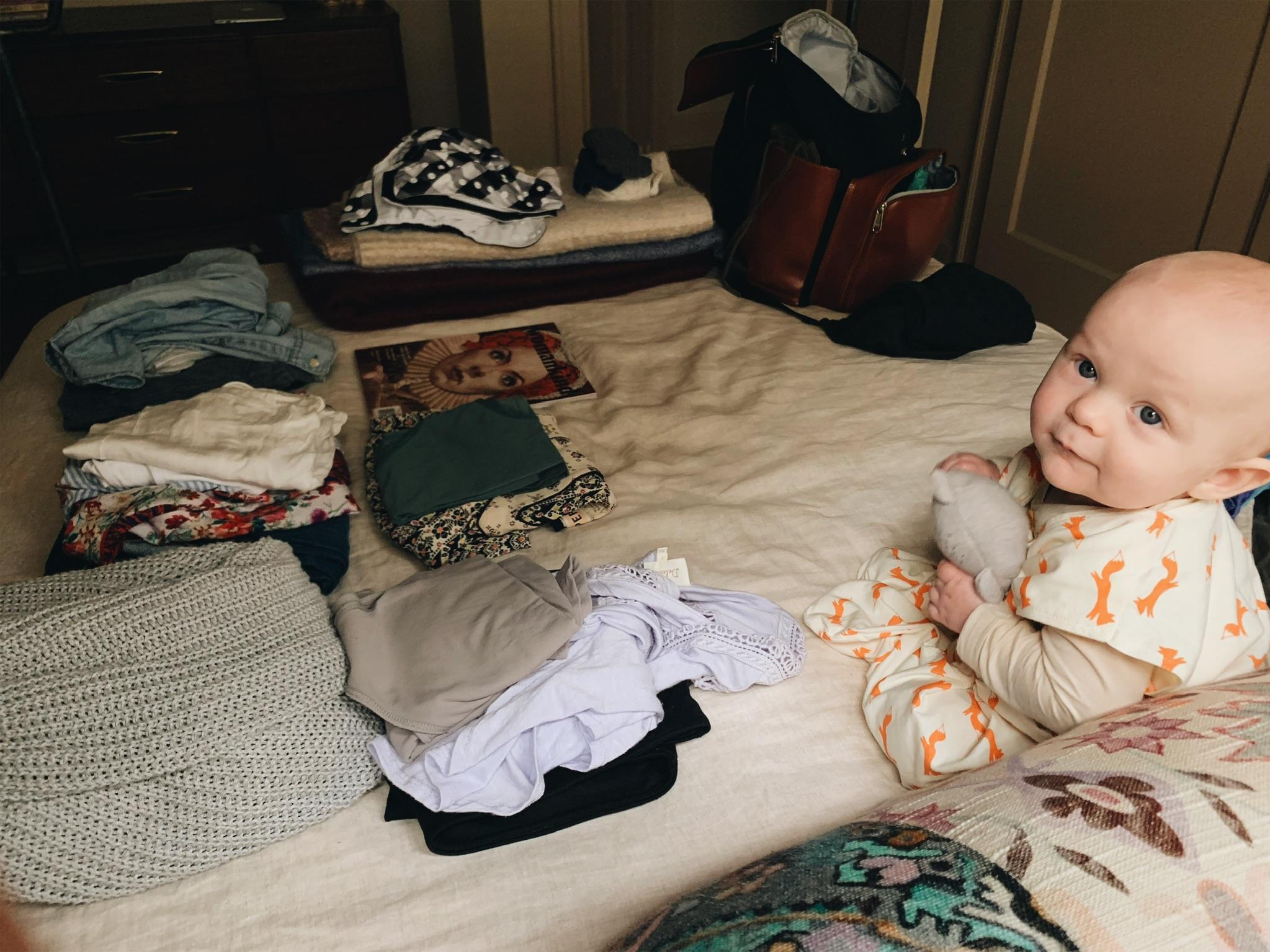 Helping me pack!