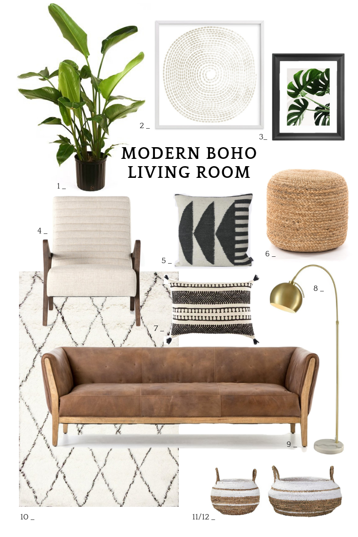12 Modern Boho Living Room Ideas 12 Pieces
