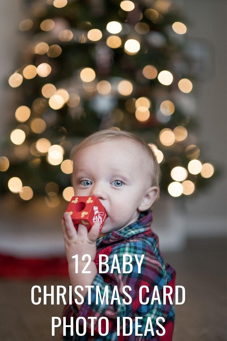 12 Christmas Family Photos With Baby Card Ideas 12 Pieces