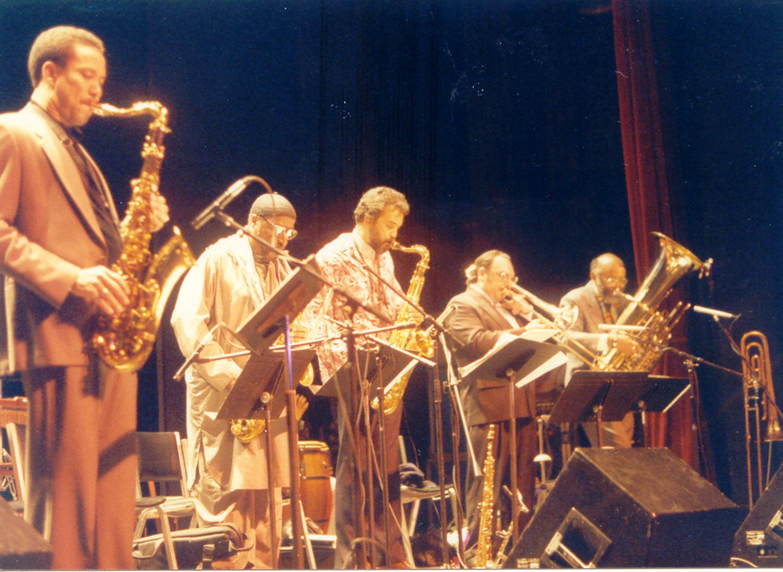 Bill Pierce, Yusef Lateef, Leonard Brown, Gary Valenete, Bill Lowe