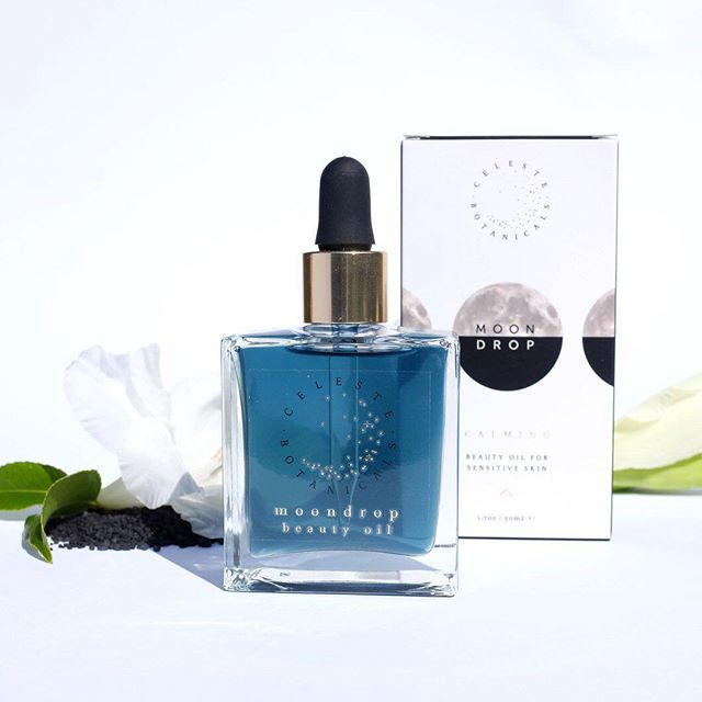 "🌓Moondrop Facial oil with Blue Tansy🌗 visit celestebotanicals.com for a 10% discount when you enter ""INSTA10"" at checkout . . . . #skincare #naturalskincare #facialoil #vegan #beauty #makeup #acne #skin #autumn  #antiaging #celestebotanicals #ayurveda #greenbeauty #organic #organicskincare #crueltyfree #naturalbeaty #cleanbeauty #nontoxic #instagood #moon #goddessesofinstagram"