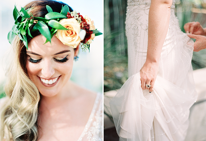 Ely Fair Photography | Floral Crown | Greenhouse Wedding | Oklahoma City | Fall Wedding Inspiration