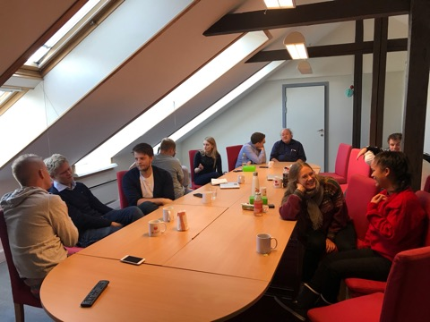 Staff meeting - at laget office