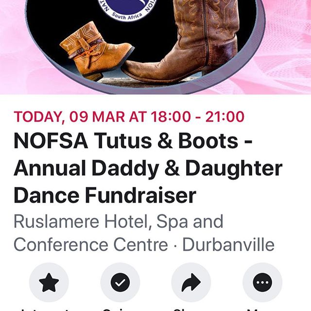 Looking forward to another wonderful evening  tonight with Dads and Daughters dancing together 🤠