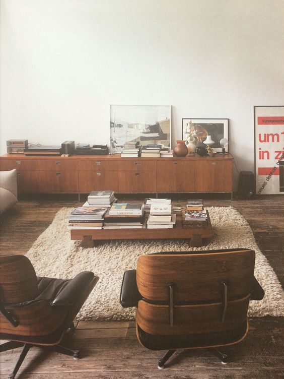 Charles and Ray Eames Lounge Chair and Ottoman