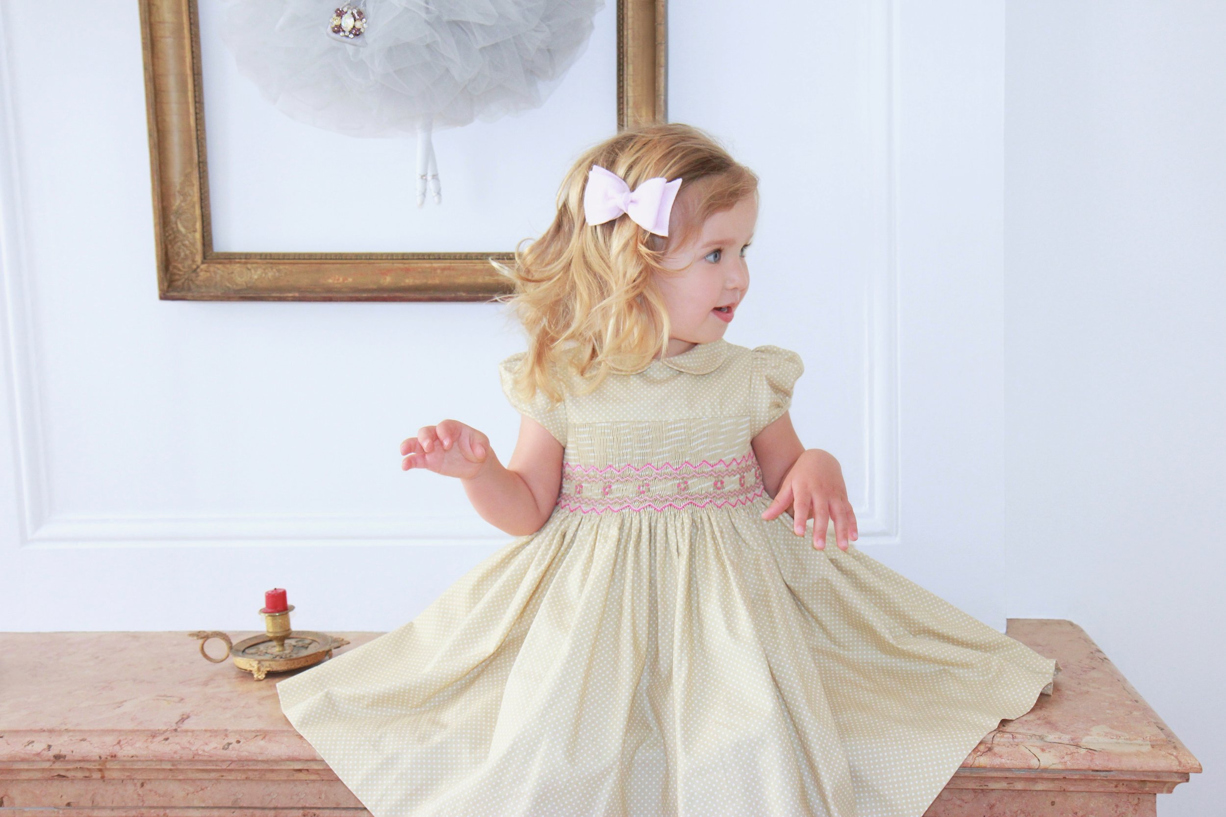 Handmade smocked dress - Paris boutique - kids