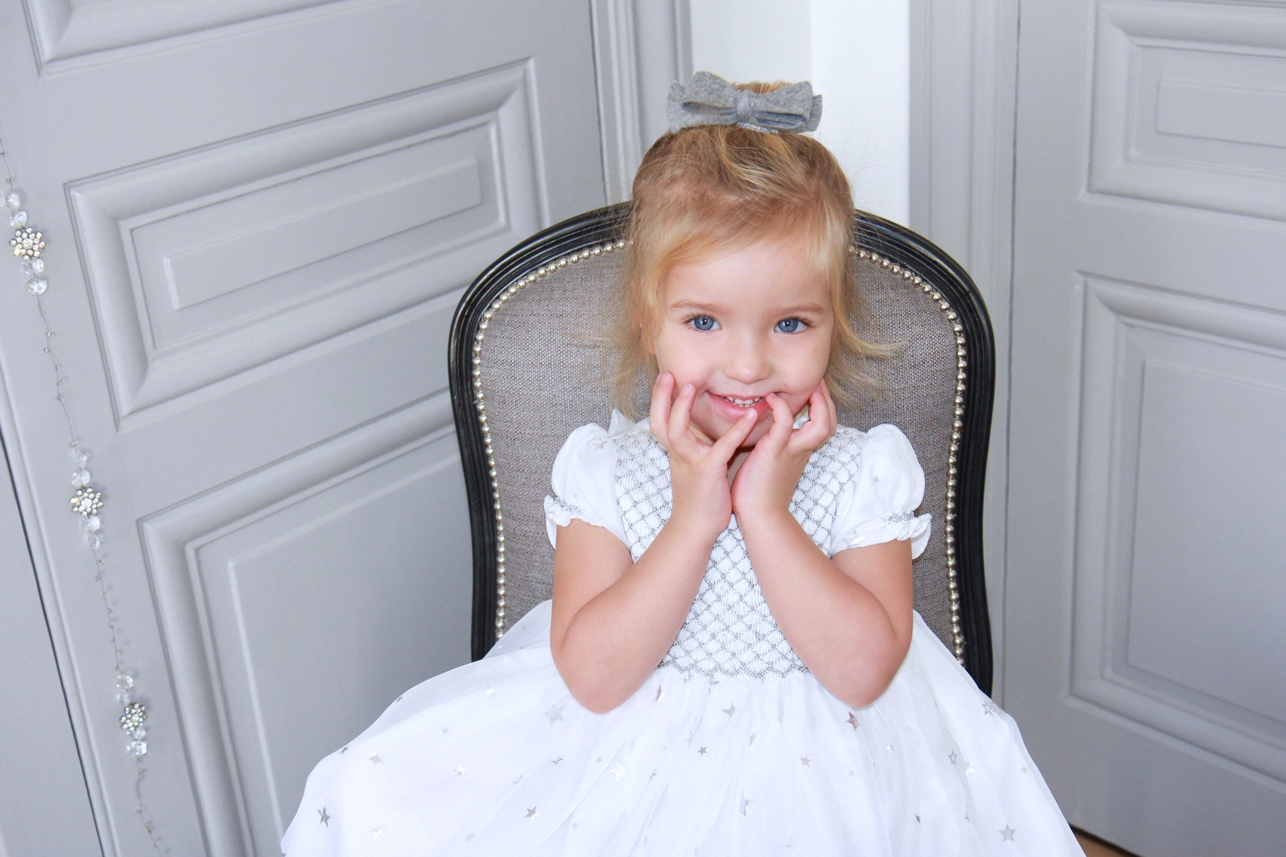 Peau d'Ane smocked dress - Paris boutique - kids