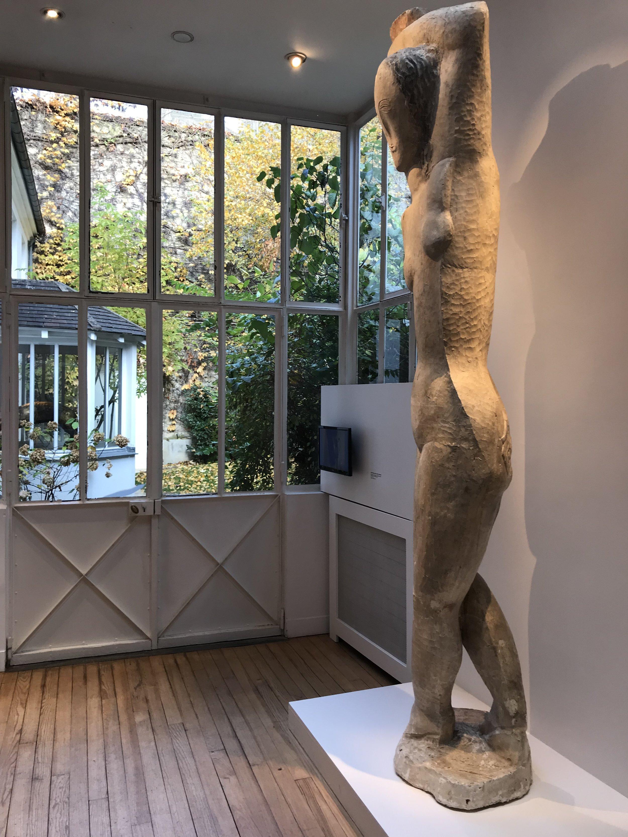 Zadkine museum - visiting Paris with kids
