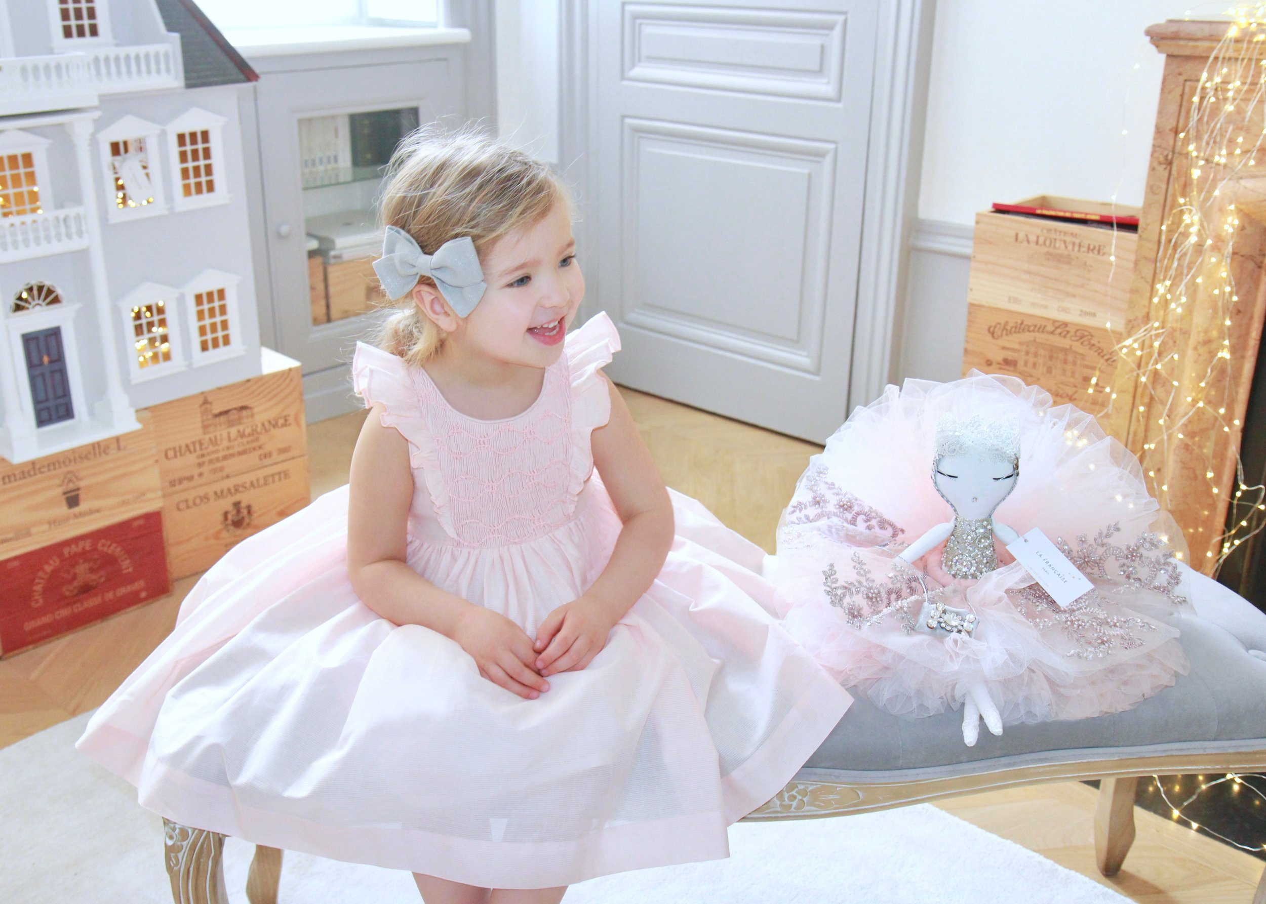 Handmade Preppy Orme smocked dress - classic chic Parisian children's boutique