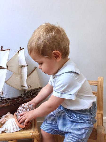 L'ile aux Fées - Parisian children boutique handmade classic chic baby boy outfit
