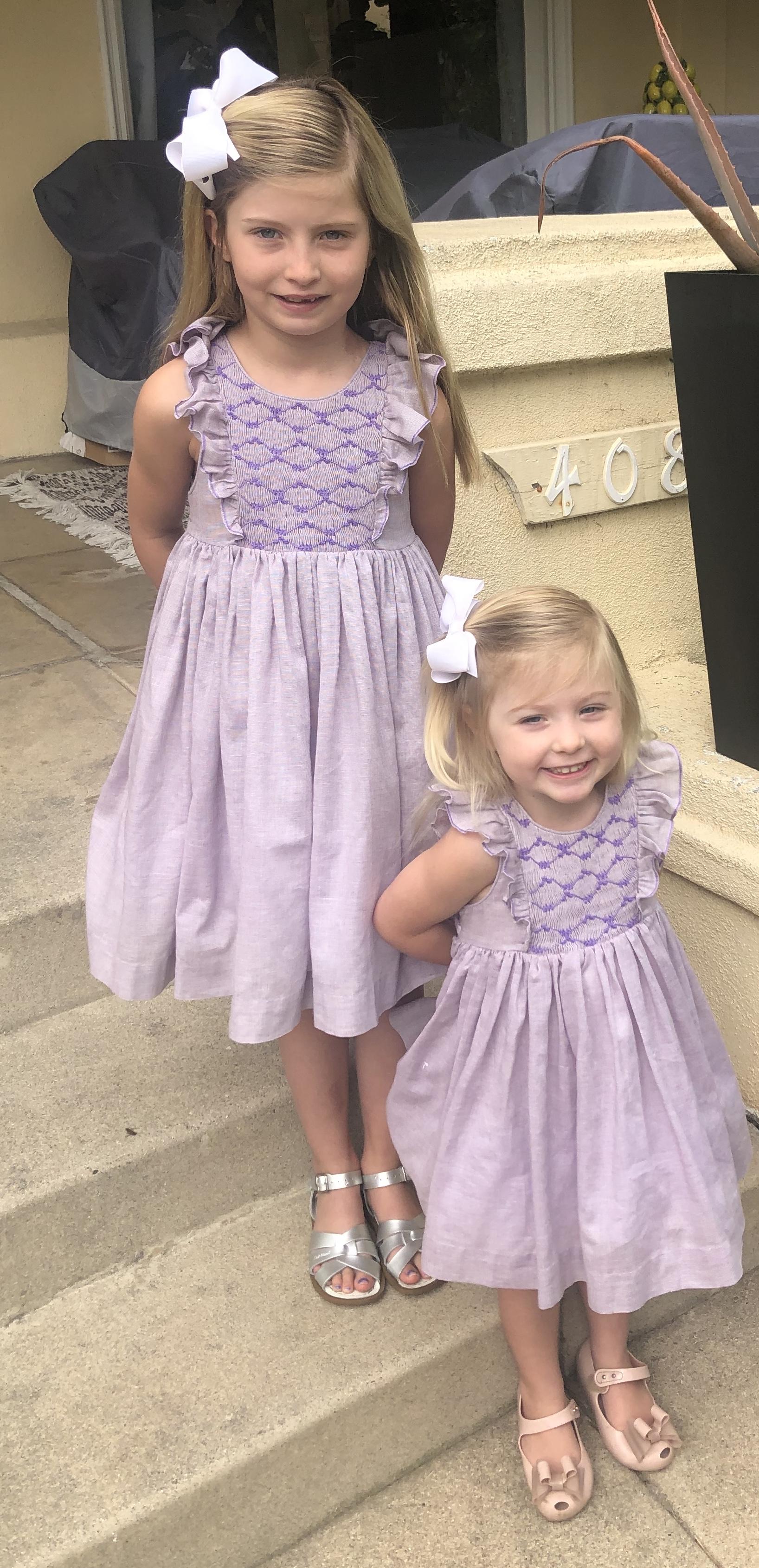 Easter celebrations in Violet handmade Netti dresses