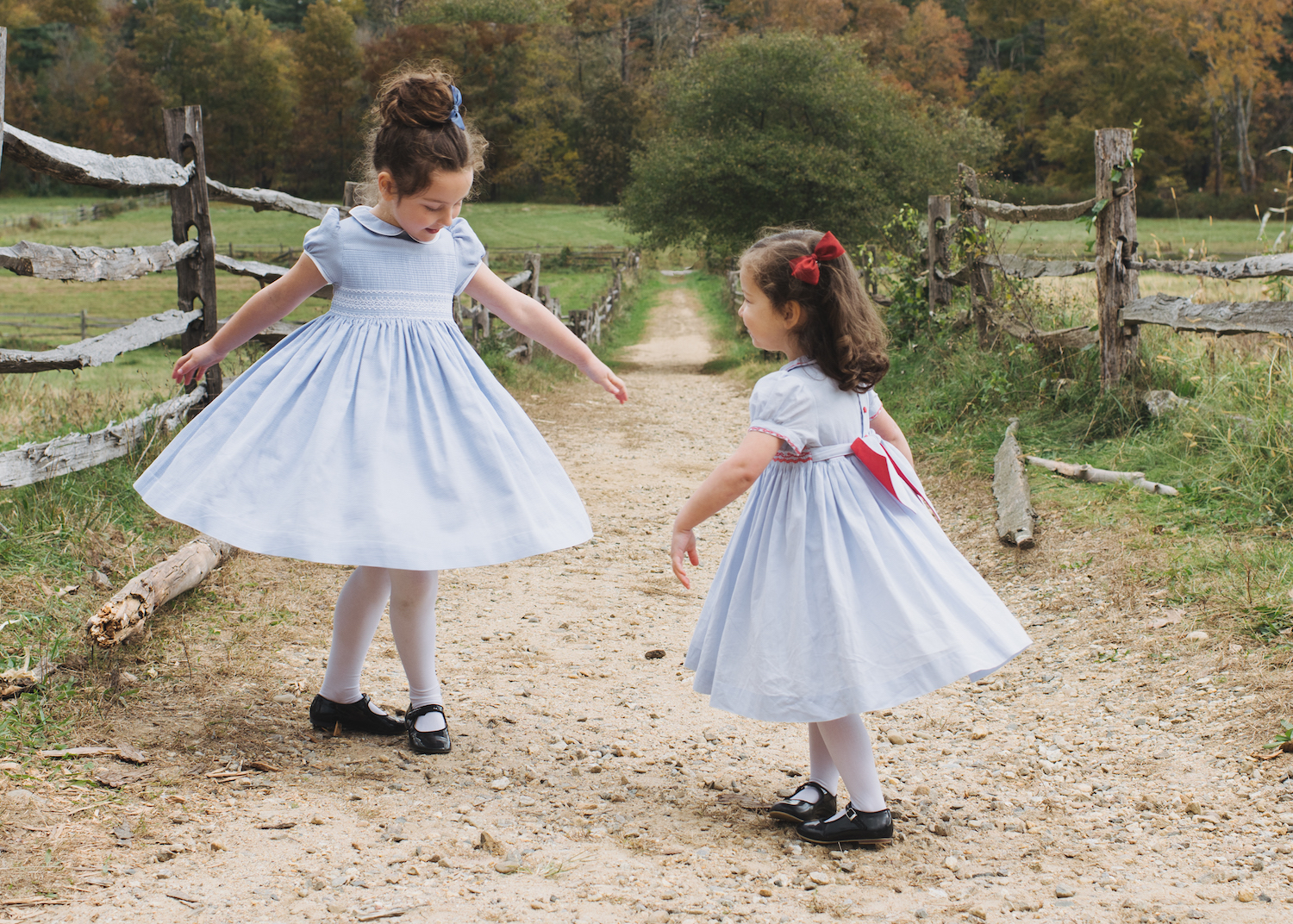 Cerise smocked dresses