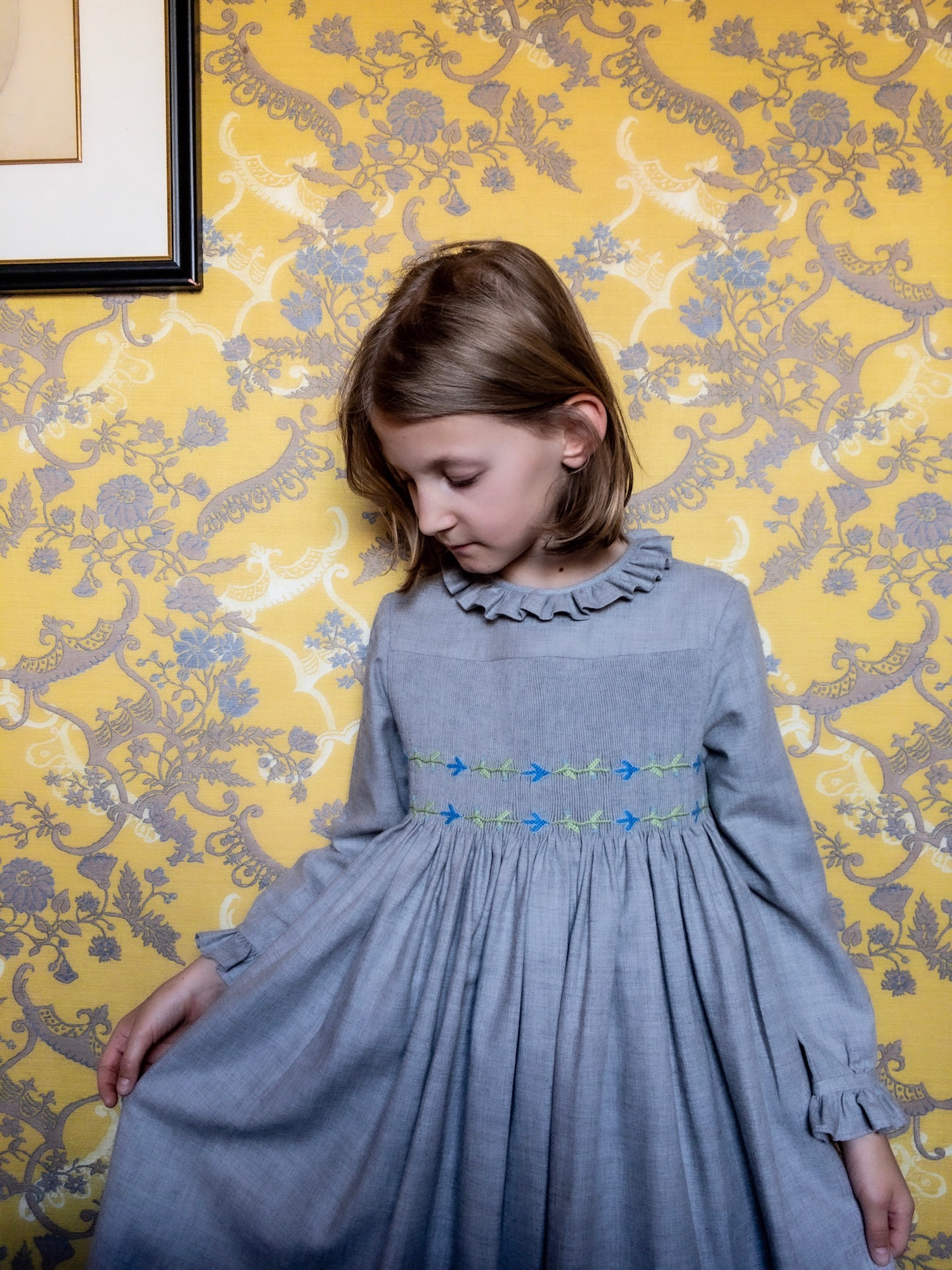 Paris with kids - Blog - L'Île aux Fées - handmade smocked dress - hotel de buci