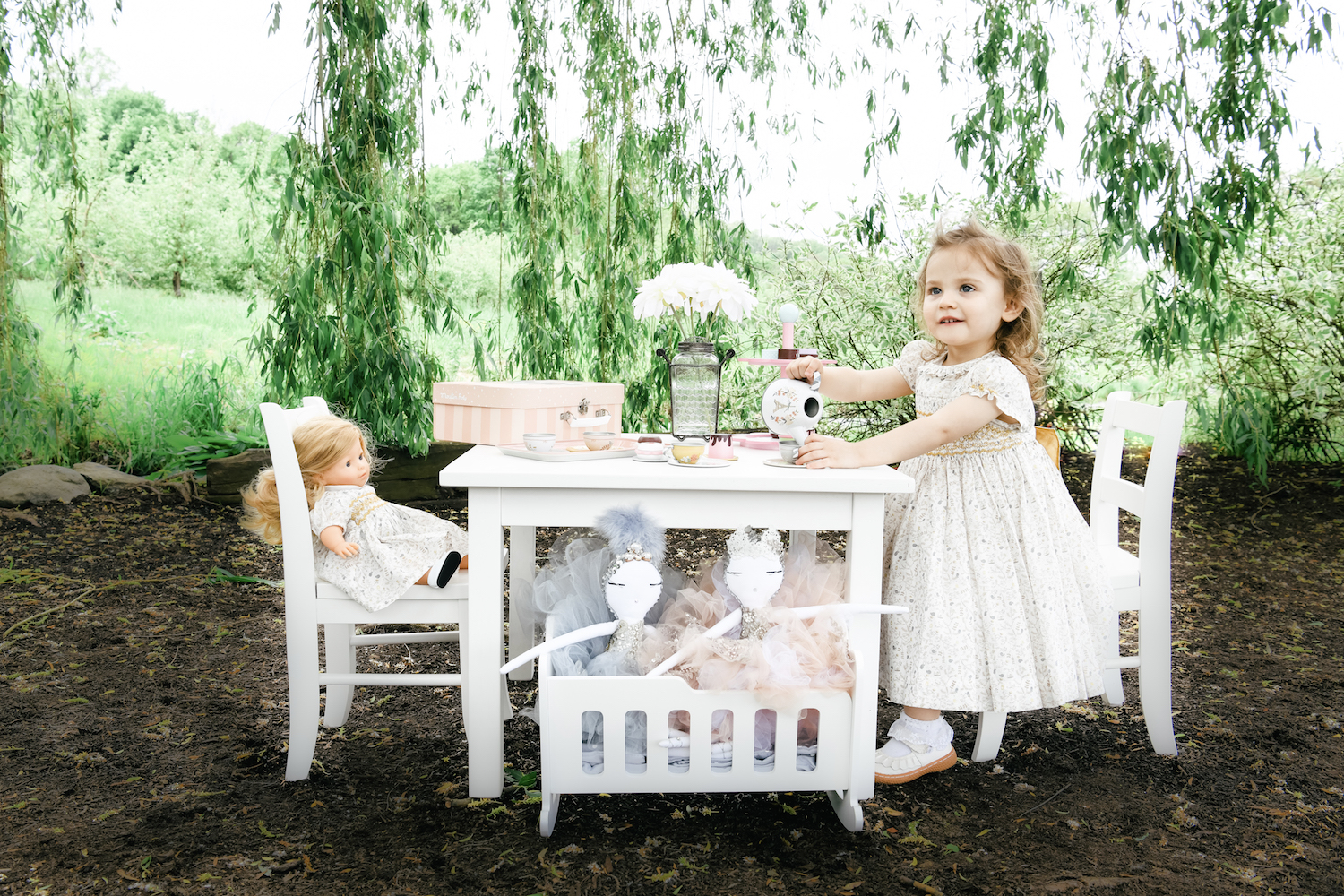 handmade smocked dress Parisian boutique children and baby birthday