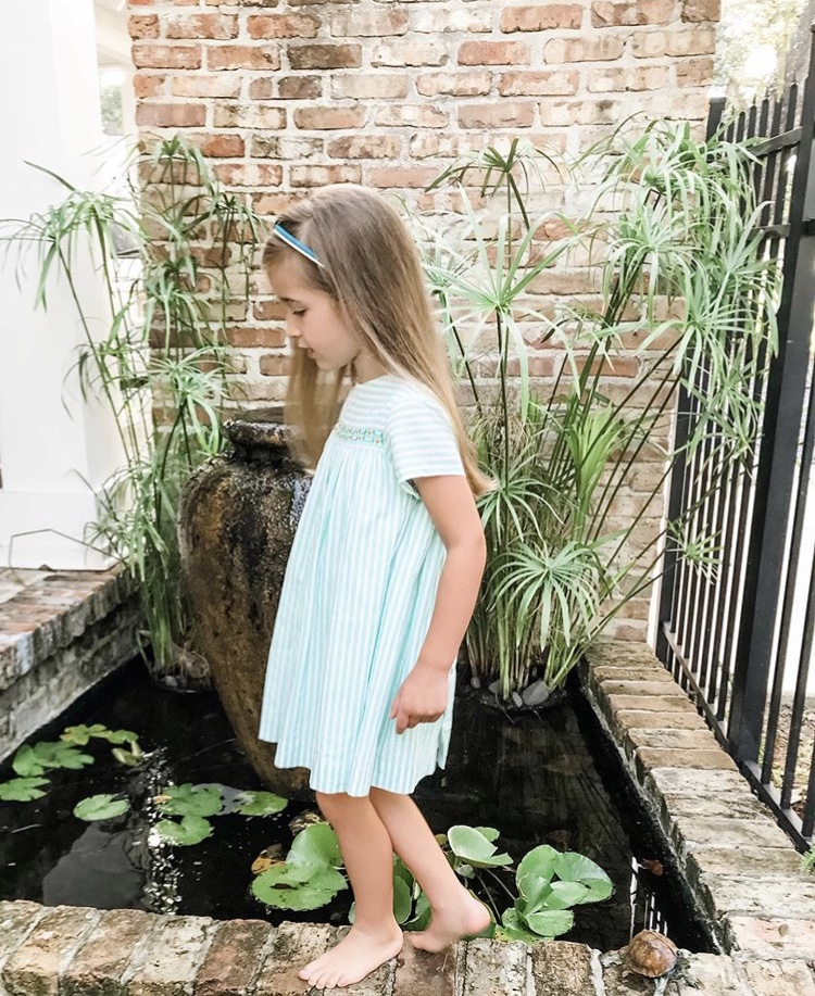 French style handmade embroidered dress - parisian children's boutique