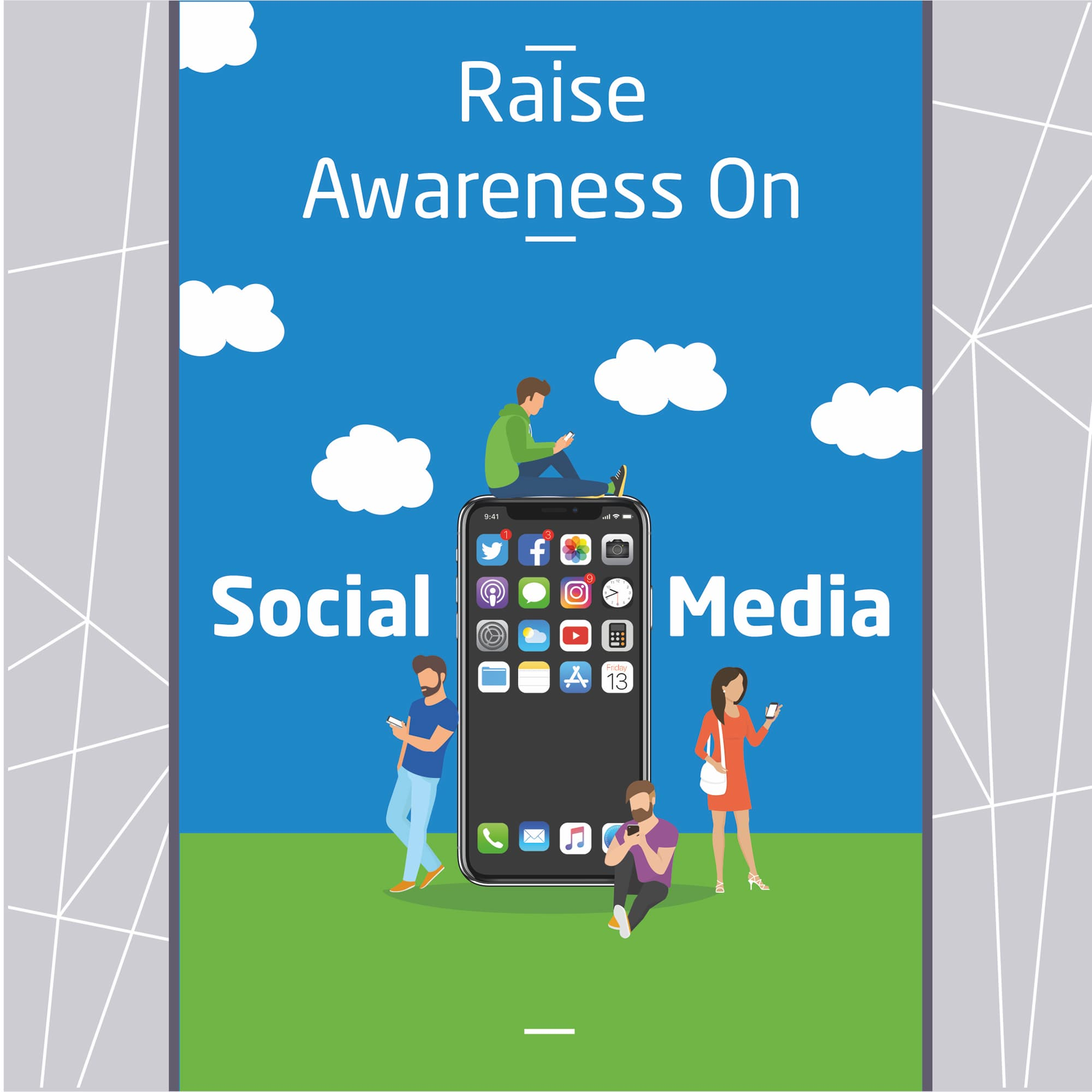 people sitting and leaning on smartphone using smartphones and laptops to follow on social media raise awareness.jpg