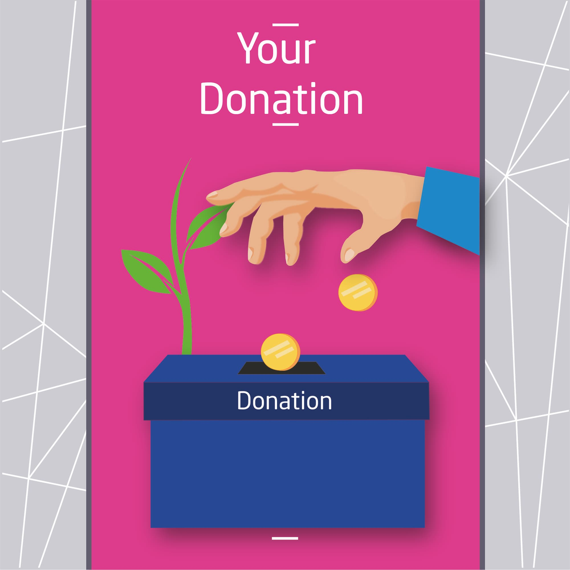 hand throwing coins in a blue donation box.jpg