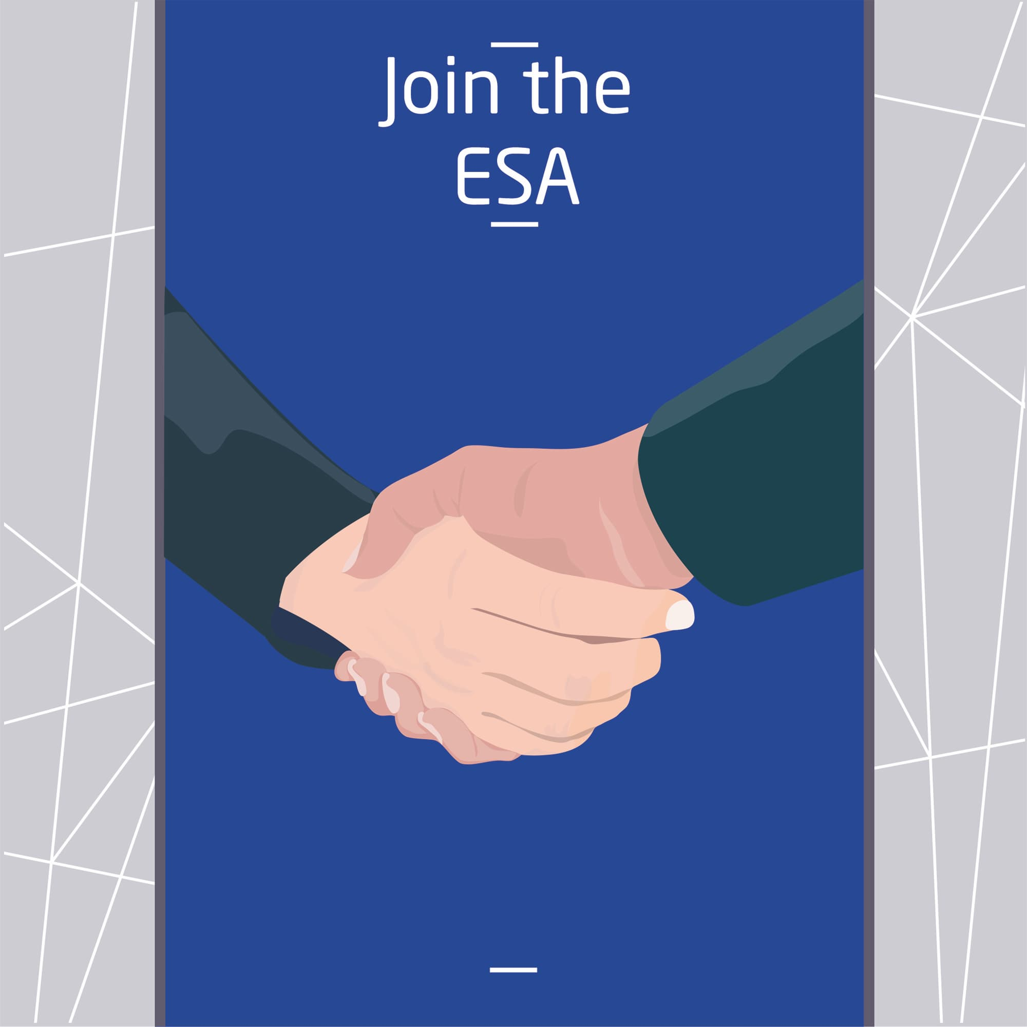 two people shaking hands after joining the european sepsis alliance blue background.jpg