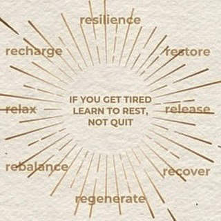 Never underestimate the power of rest