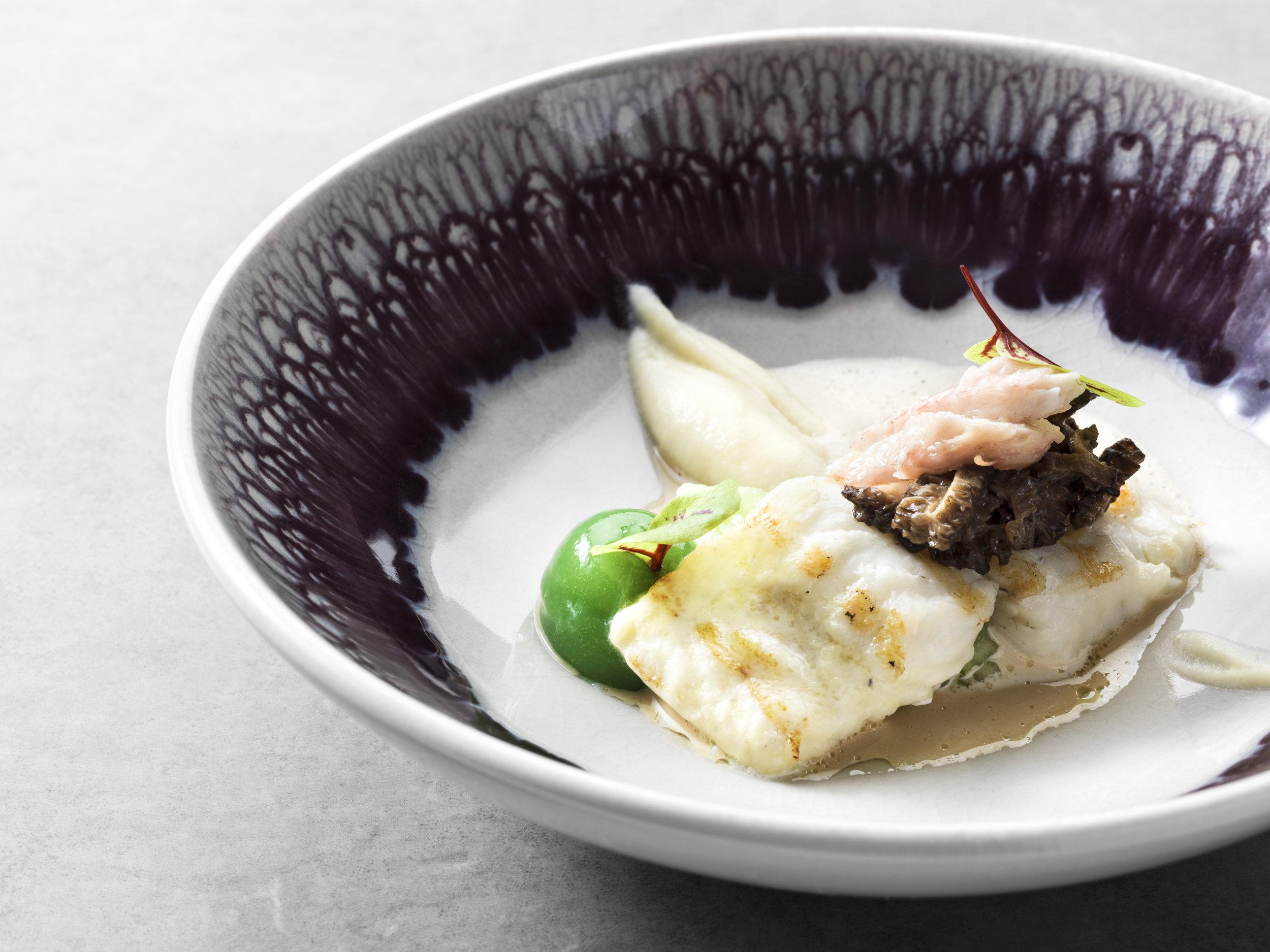 Rik Jansma | Tarbot met paling, groene appel en saus van cepes