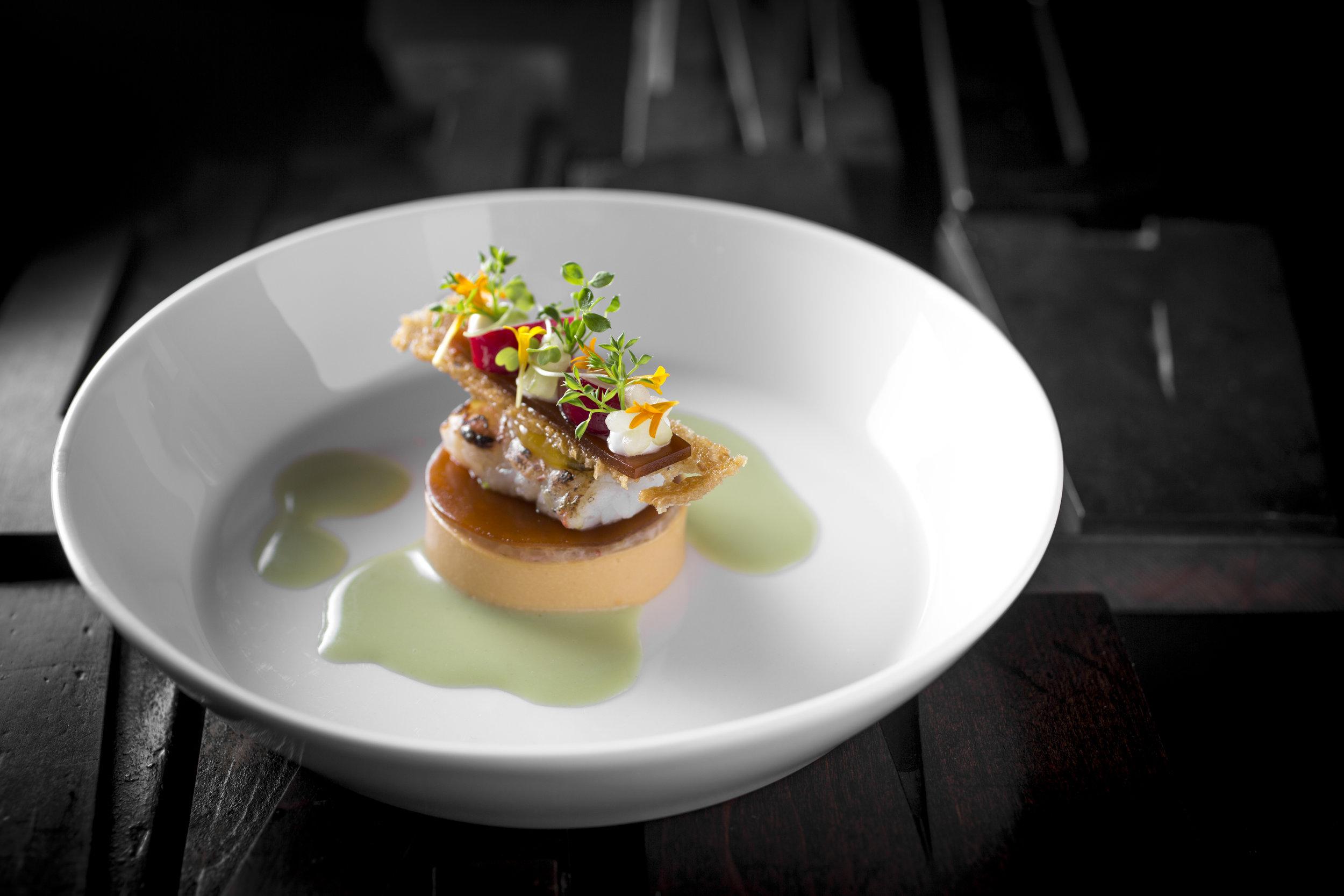 Roger Rassin | Langoustine, bisque, yoghurt en wasabi