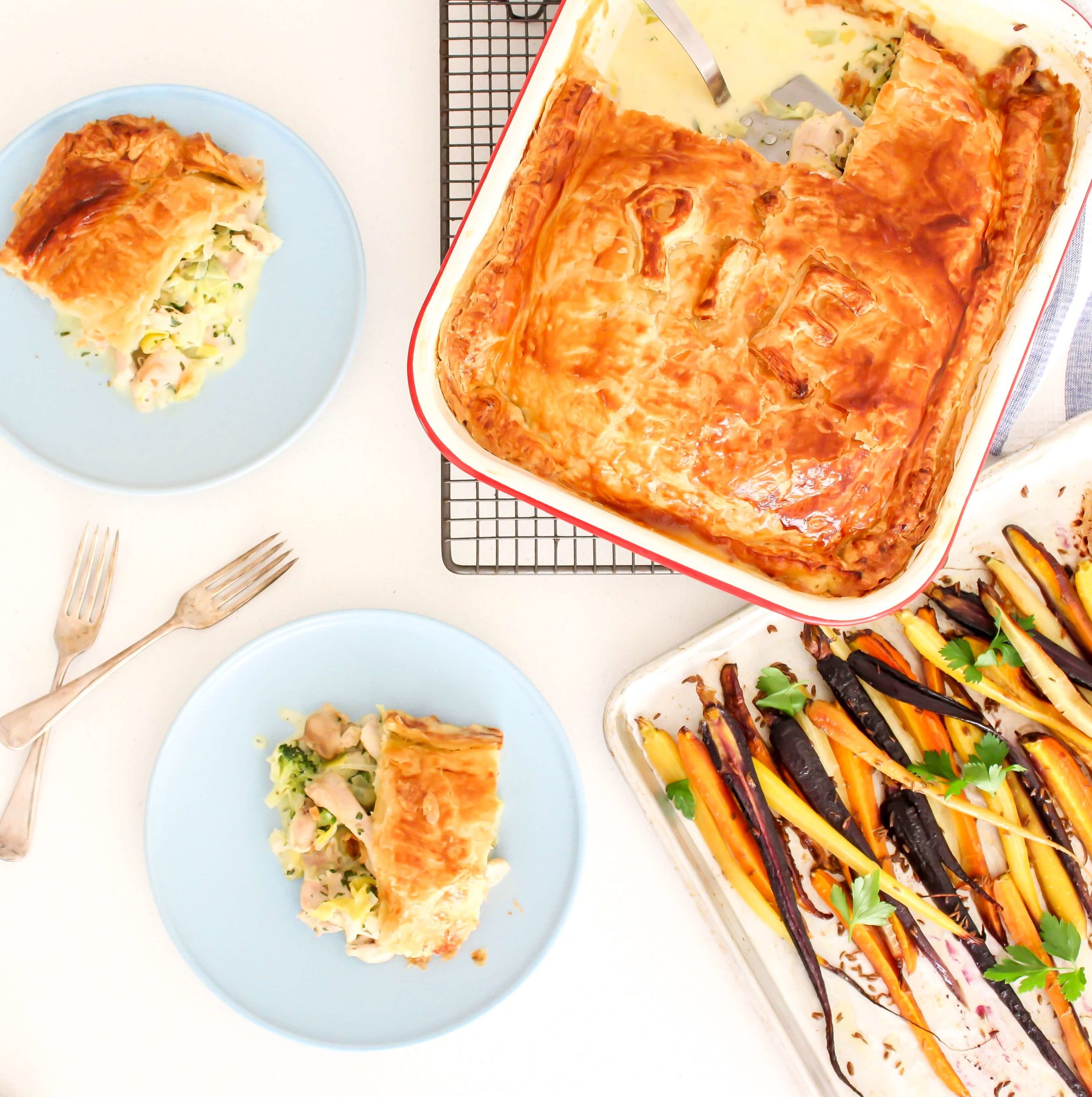 Food By Annabel - Recipe Development Chicken + Leek Pies