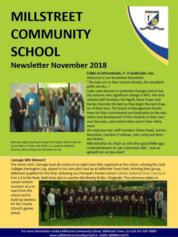 Nov 2018 Edition - MCS Newsletter November 2018