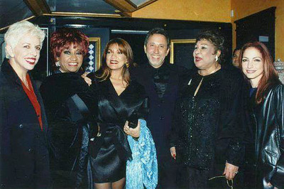 Albita, Celia, Angela Carrasco, Emilio Estefan and Olga Guillot
