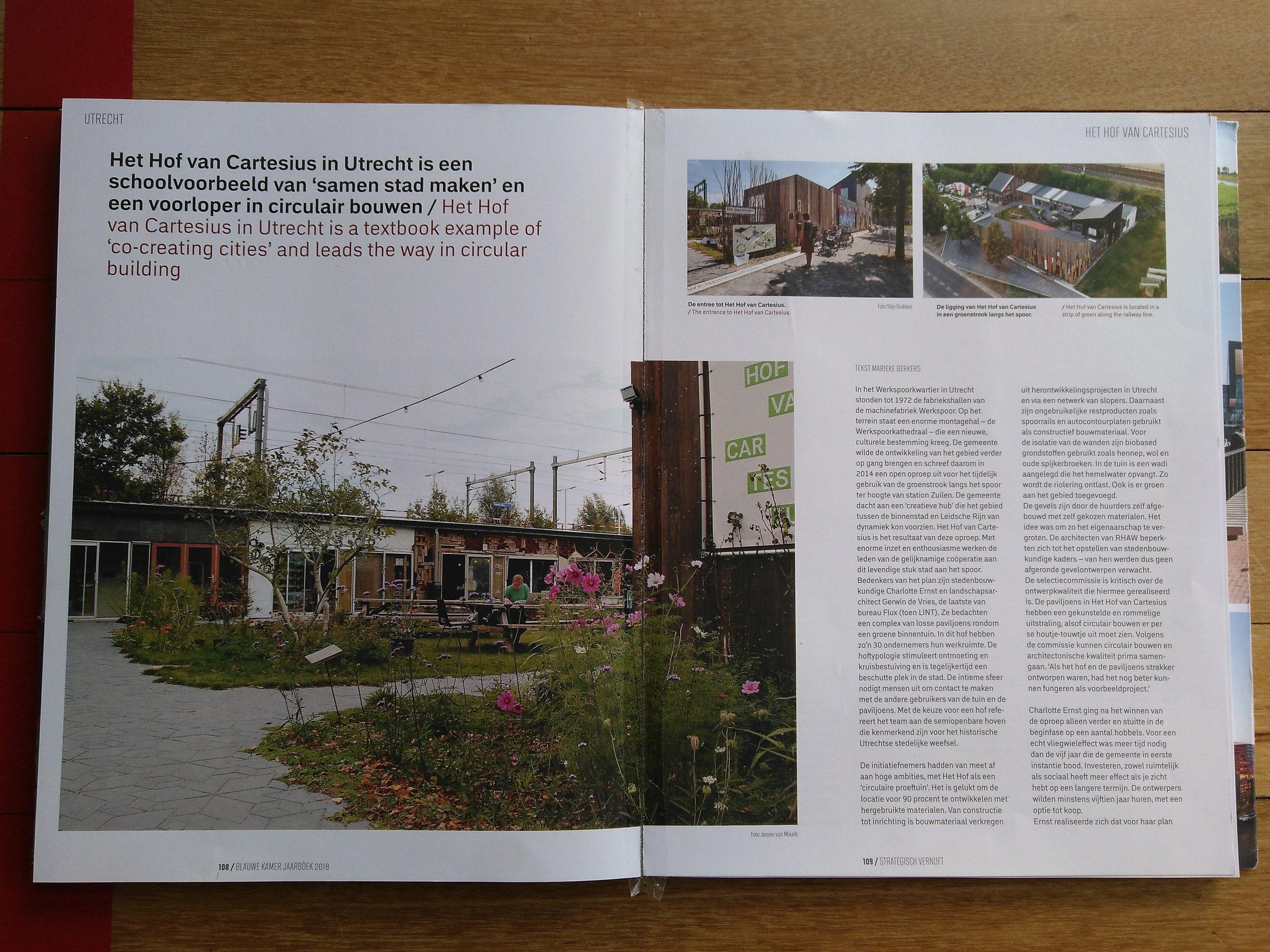 Vermelding 20 projecten Jaarboek Stedenbouw & landschapsarchitectuur 2018 - De Blauwe Kamer