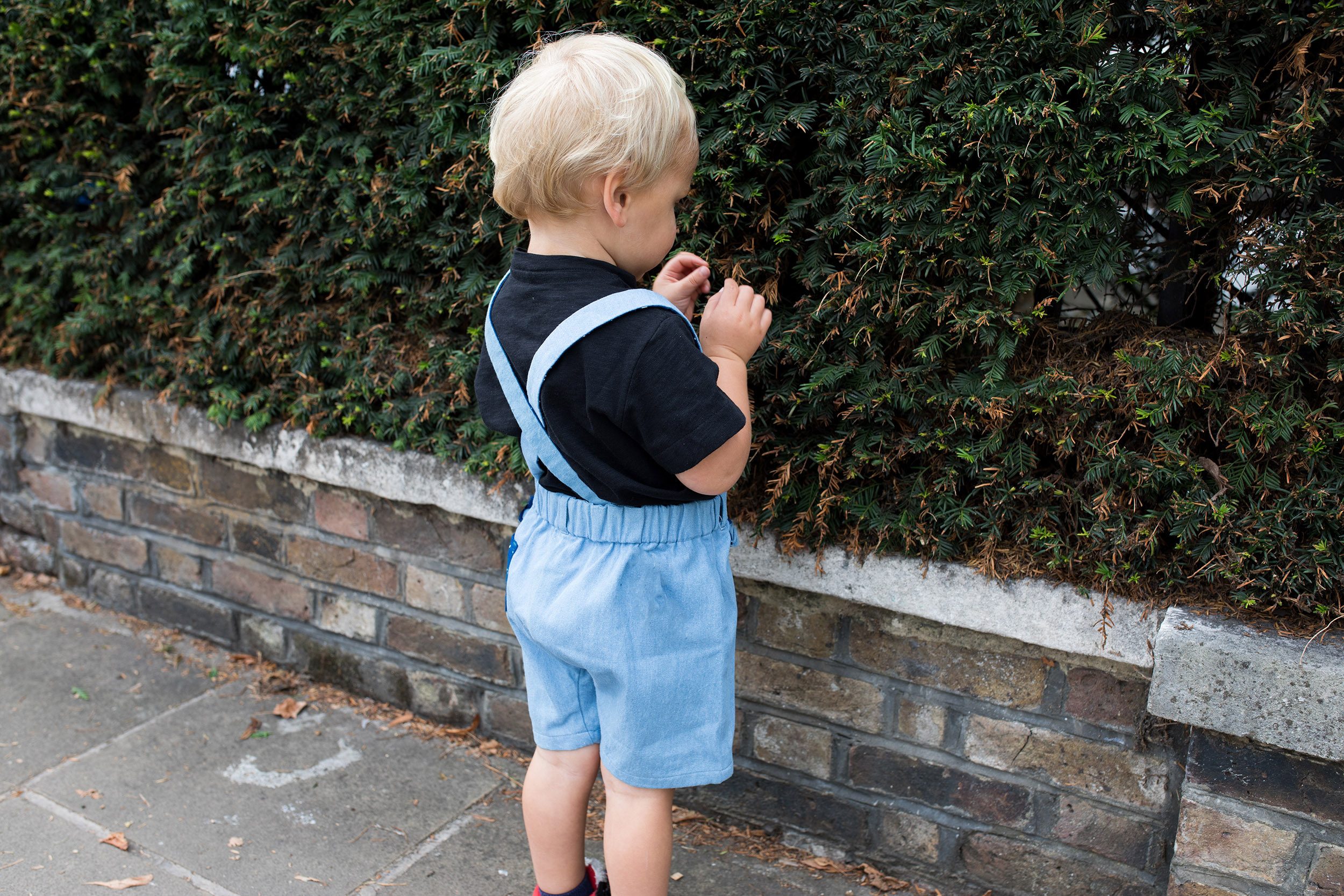 Finnery Dungarees ( wearing them as dungarees! )