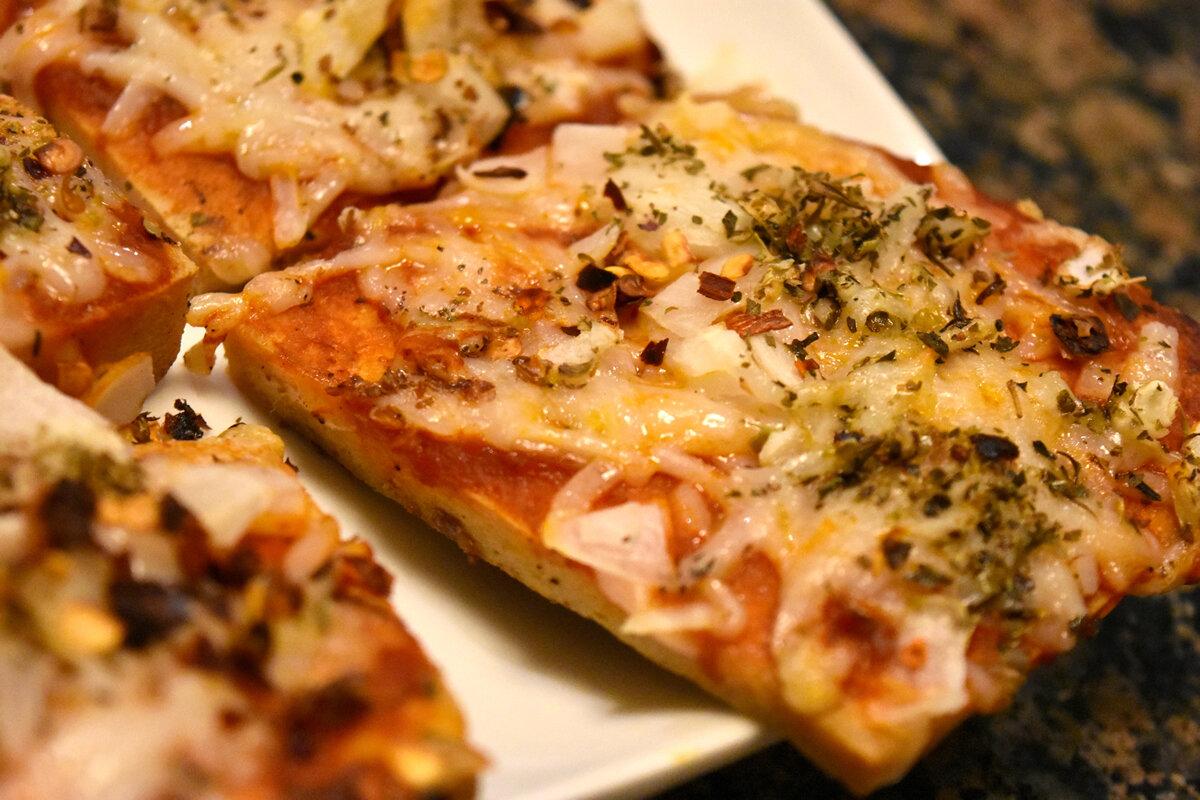 vegan tofu pizza