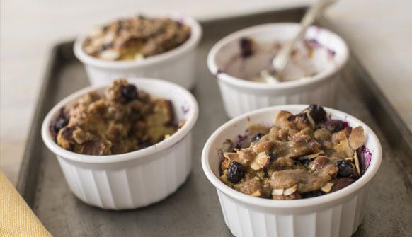 Blueberry Raisin Bread Pudding