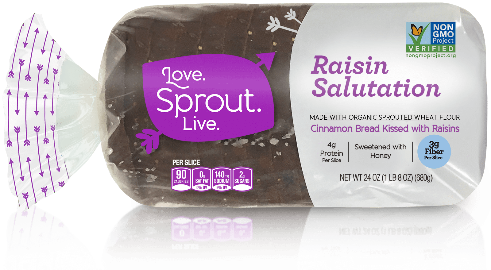 Raisin Salutation - The goodness in here honors the goodness in you.