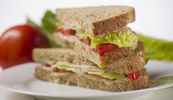 Caesar sandwich with tomato