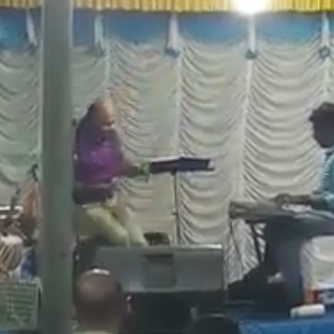 26 MAY 2019 :  P. VISHNUPRASAD  of Kerala, India, collapsed onstage on the eve of his daughter's wedding, while performing 'Raakili Ponmagale' - sung by a father for his daughter in the hit Malayalam film 'Amaram.' He was fifty-five.