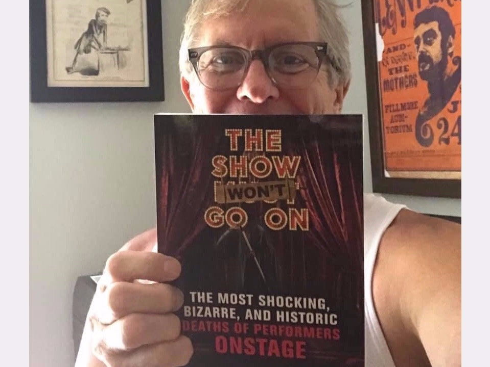 COMEDY LEGEND RITCH SHYDNER, AUTHOR OF  KICKING THROUGH THE ASHES: MY LIFE AS A STAND-UP IN THE 1980s COMEDY EXPLOSION,  SHOWS OFF HIS LATEST PURCHASE.
